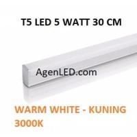 Lampu TL Neon T5 LED 5W 30cm Tube 30 cm 5 w watt WARM WHITE KUNING 4 6
