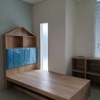set interior kamar anak/ furniture kamar tidur anak/ lemari baju