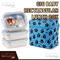 GiG baby Rectangular Lunch Box Tempat Kotak Makan Bayi Stainless Steel