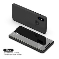 Samsung Note 10 FLIP MIRROR STANDING WALLET ELEGANT CASE - Blue violet