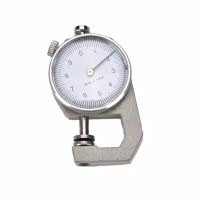 1PCS 0-10mm New dial thickness gauge 10mm leather paper thickness mete