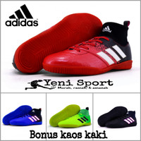 Sepatu Futsal Anak Adidas Techfit X Abu Hijau Stabilo - Merah, 34