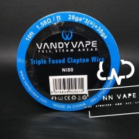 Vandyvape N80 Triple Fused Clapton 28GA*3+38GA - Roll