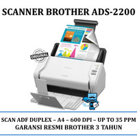 Scanner Brother ADS-2200 35 PPM ADF Duplex - Original Resmi