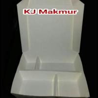 Paper Lunch Box Sekat 4/Kotak Makan Kertas Sekat 4/Tempat Makanan