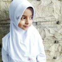 jilbab anak sekolah putih polos jilbab miulan kids
