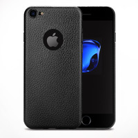 Luxury Lychee Soft Thin TPU Case Casing Polos iPhone 6 6S 7 8 X Plus