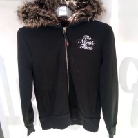 Sweater THE NORTH FACE Size S Hoodie bulu bisa dilepas original import