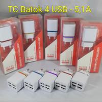 CHARGER HANDPHONE CHARGE SPEAKER BATOK ADAPTOR 4 PORT USB NO PAC