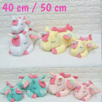BONEKA BANTAL KUDA PONI UNICORN PONY HORSE SOFT CUSHION - 50 CM