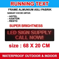 RunningText 68X20 / LED / Running Text / MovingSign Red Color Murah