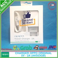 Charger Oppo F5 Youth USB Original 100% AK933GB 5V 2A Fast Charger - Putih