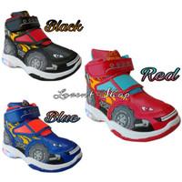 Sepatu Anak Laki LED Mobil Offroad Monster / Boots Sekolah PAUD, TK