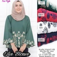 Baju Atasan Wanita Muslim Blouse Lilie Tunik Ana