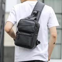 Tas Selempang Kulit Pria / Sling Bag Import / Tas Korea Murah