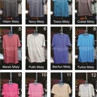 Kaos Polos Misty 30s Size S M L Bandung