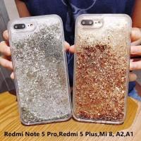 Case Gold Silver Soft Casing Xiaomi Redmi Note 5 Pro 5 Plus Mi A2 A1 8