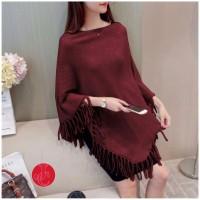 FJ705 Pakai Wanita Poncho knit | Baju Rajut | Baju fashion wanita