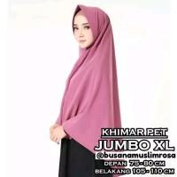 Khimar pet jumbo XL jilbab instan simple