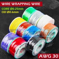 Per 1 ROL ~ Wire Wrapping Kawat Jumper Kabel PCB Breadboard Wrapping