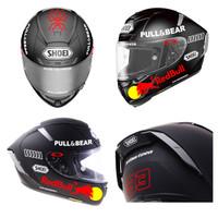 Cutting Stiker Helm Stiker Marc Marques Stiker 93 Stiker Red Bull