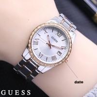 jam tangan GUESS WANITA ROMAWI BEZEL DIAMOND TANGGAL RANTAI