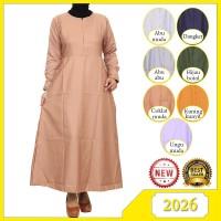 Baju Gamis Muslimah Katun Baloteli Motif Polos