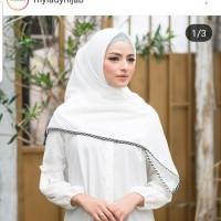 Jilbab Polos Stripe Twotone Mylady Broken White