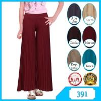 Celana Panjang Kulot Anak Nanggung Plisket/Rempel 8-13 tahun Murah