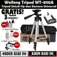 Weifeng Tripod WT-3110A - Tripod Untuk Hp Dan Kamera Universal - BONUS