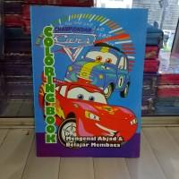 Buku Mewarnai Cars, belajar mengenal abjad dan membaca