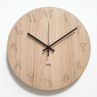 Jam Dinding Unik Artistik - Maple Angka Arab Wall Clock