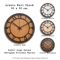 Jam Dinding Arabic Wall Clock Mesin Sweep Movement