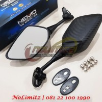 Spion NEMO Fairing R25 Carbon Tangkai Pendek Yamaha NMAX XMAX