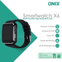 Onix Smartwatch X6 - Multi Function High Resolution 2,5D Curved Screen