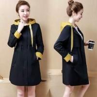 Terbaik Dress Hoodie Coat Korea Baju Wanita Panjang