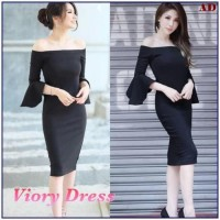 Paling Laris Viory Dress Blouse Sabrina Hitam Baju Atasan Wanita /