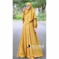 Paling Laris Baju Gamis Dewasa Long Dress Muslim Wanita Pinggang Karet