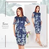 Paling Laku Tsania Dress Pesta Wanita Tie Bordir Lace / Gaun Pesta