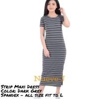 Paling Murah Long Dress Maxi Dress Wanita Bahan Spandex Nyaman&Adem