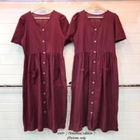 Terbaik Lily Babydoll Dress /Zara Button Midi Dress / Dress Zara