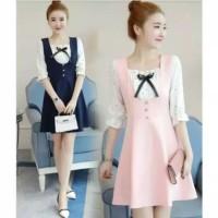 Paling Murah Dress Midi Keren Berkualitas Korea Baju Murah Cantik