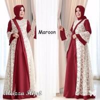 Termurah Baju Muslim Dress Gamis Meiz Hijab Brukat