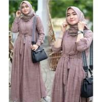 Terlaris Gamis Wanita Muslim Casual Maxi Dress Cewek Fashion Busana