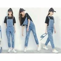Paling Murah Dress Overall Jumpsuit Denim Jeans Wanita/ Cewek Murah