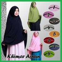 Khimar Ainun Jilbab Panjang Syari Hijab Jersey with Pet Pad