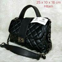 "Tas chanel 2 ruang tas wanita branded murah impor handbag cewek"""