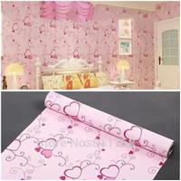 Grosir Murah wallpaper Stiker Dinding Pink Bunga Love 10 M x 45 CM