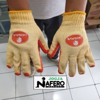 Sarung Tangan Katun Karet kombinasi safety glove latex grip anti slip