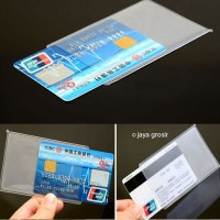 Plastik pelindung ATM / SIM / KTP / Kartu Nama Cover pelindung